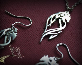 Earrings Dragon Jewelry | Pendant Dragon Jewelry | Sterling Silver Jewelry | Dragon Guardian | jewelry Art | talisman