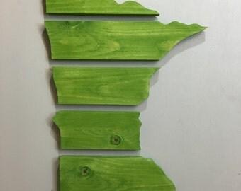Handmade Wood Minnesota Wall Hanging