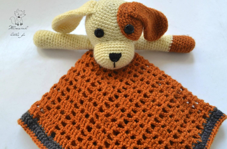 Free Crochet Dog Lovey Pattern : Crochet dog lovey pattern crochet dog security blanket