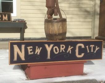 New York City retro style sign