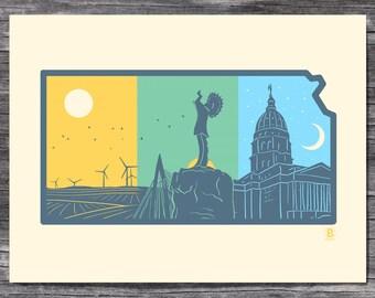 Layers of Kansas Screen Printed Poster