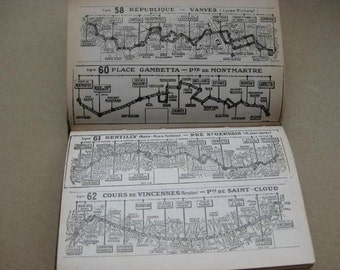 Vintage French guide for Paris in 2 languages, French and English.
