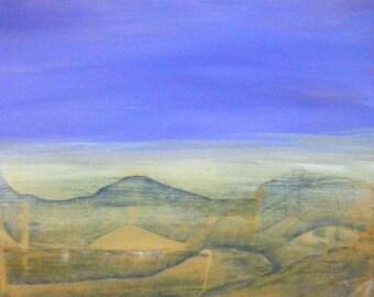 Small Canvas Painting, Original Acrylic Painting, Landsape Painting.