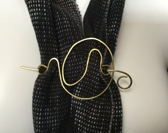 Brass scarf and shawl pin -SP10