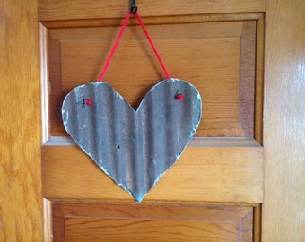 Corrugated Metal Heart