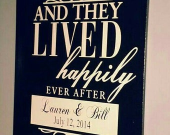 And They Lived Happily Ever After...Wooden Wall Decor