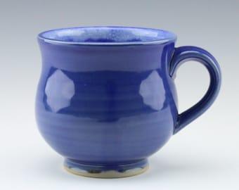 Cobalt Blue Glazed Ceramic Mug, 11 oz.