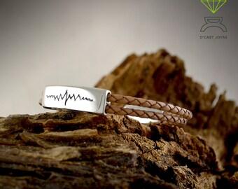 Silver HeartBeat Bracelet Sterling silver Bracelet