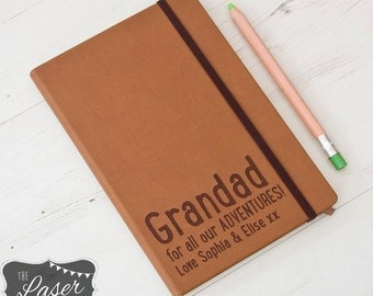 Personalised Notebook - Father's Day - Birthday - Adventure's - Journal