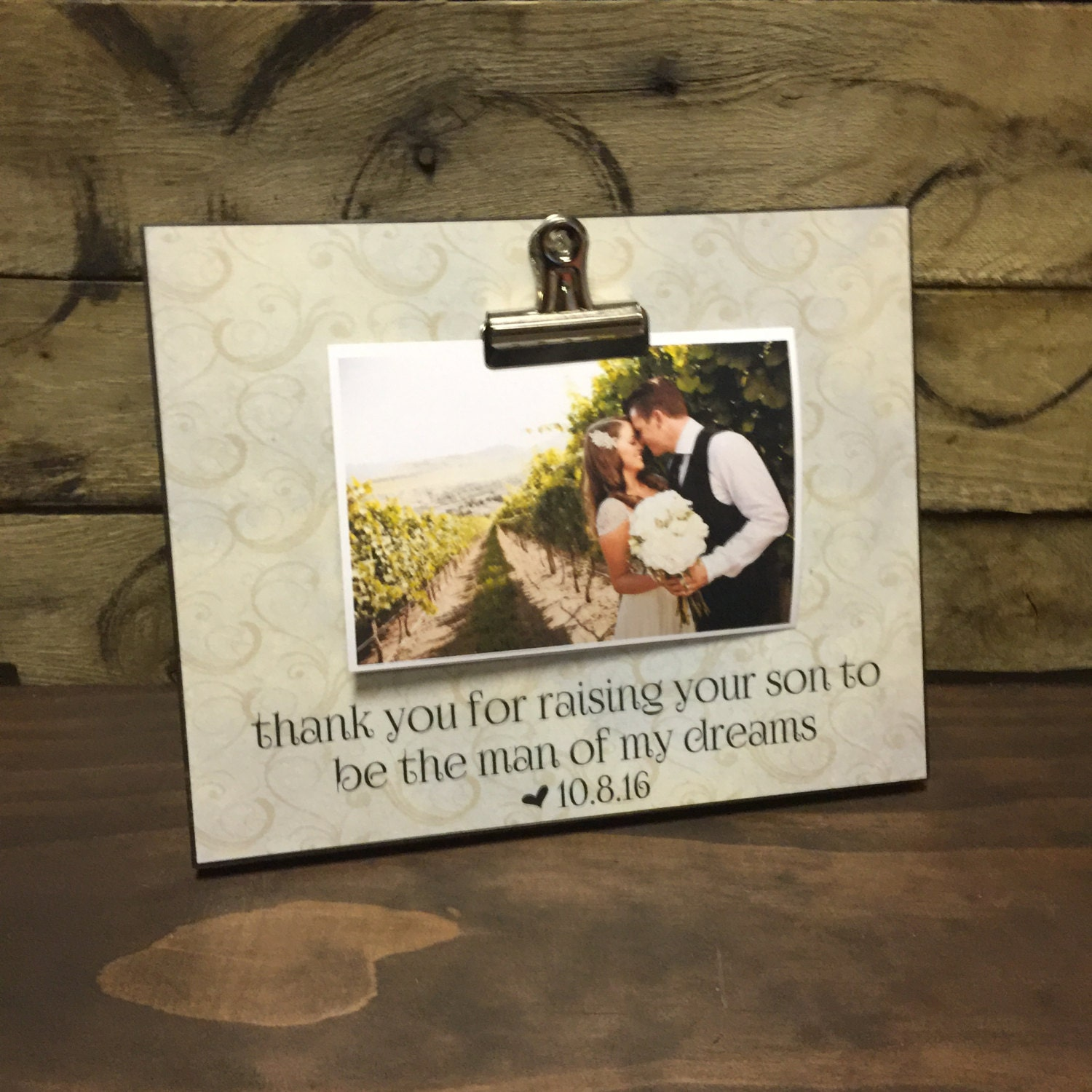 of the groom gift wedding gift thank you for raising your son