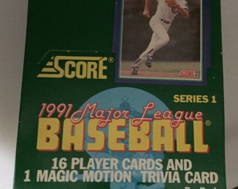 1991 Score Series 1 Baseball Trading Card Box