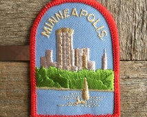Minneapolis Minnesota Vintage Souvenir Travel Patch, a Put On by Lion