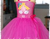 Ben and Hollys Little Kingdom Dress Girls Fairy Princess Dress Pink Tulle Tutu Skirt and Crocheted Top Very Cute Handmade Tutu Dress