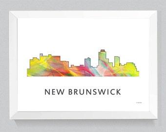 New Brunswick, New Jersey Skyline WB1