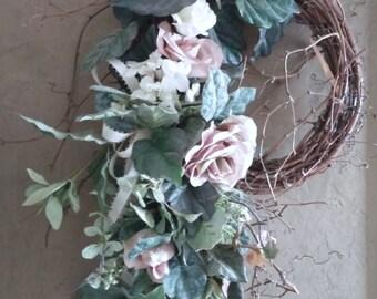 Rose twig wreath