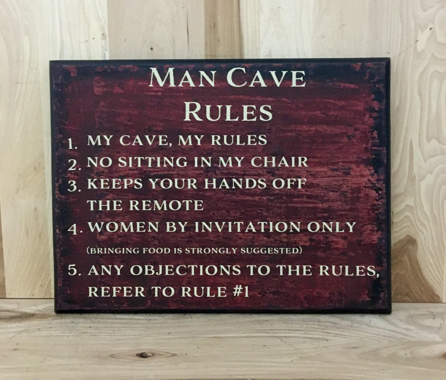 Man Cave Rules Sign Australia : Man cave rules sign gift for dad father s day