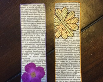 "Newspaper ""Flower"" Bookmark"