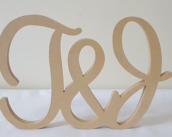 Personalised Wedding sign with an &