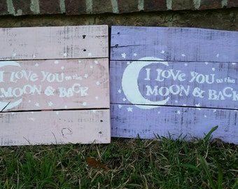 I Love You to the Moon and Back Baby Nursery Decor