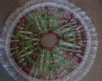 Handmade tie dye Christmas tree skirt Tye die - FREE SHIPPING