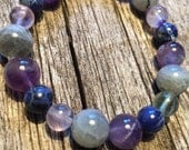Insomnia Healing Gemstone Bracelet - Promotes Restful Sleep.         A combination of 8 and 10 mm beads.