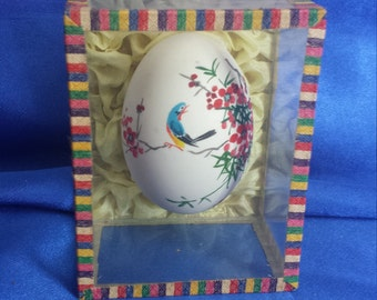 Small boxed Chinese hand painted Egg.