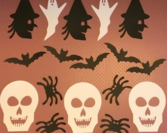 Halloween Variety Card Stock Paper Cut Outs (44 count)