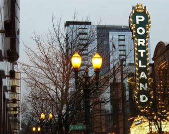 Portland Theatre Marquee Greeting Cards