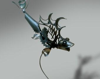Fish scrap sculpture