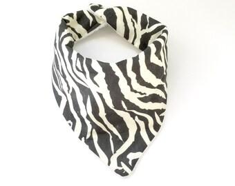Gray Zebra Baby Burpee Bandana Bibdana Scarf Bib
