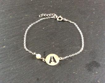Initial Silver Bracelet