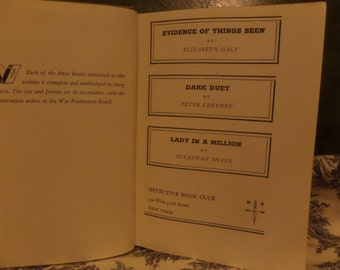 Detective Book Club 1943 Daly, Cheyney, Shane