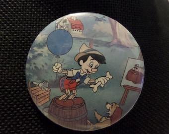 Vintage Disney Movie Pocahontas Pinocchio Zazu from the Lion King buttons or pins