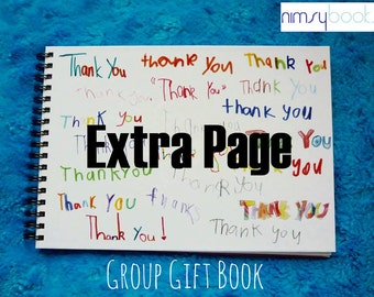 Group or class gift book - Extra child ONLY