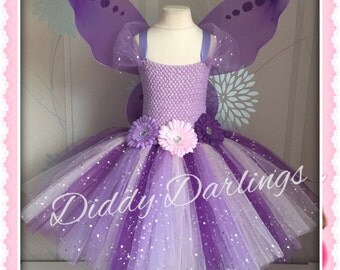 Sparkly Purple Tutu Dress. Fairy Tutu Dress Vidia From Tinker Bell - Any Colour. Handmade. All Sizes Sparkly Fairy Tutu Dress. Costume Party