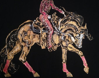 Western Rider ladies equestrian shirt. Show off your love of the western discipline in this unique fashionable womens horse shirt!