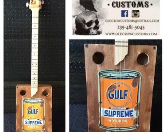 Oil can electric cigar box guitar!
