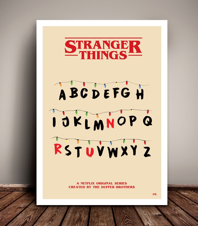 Stranger things 39 run 39 minimalist tv poster unique for Buy art posters online