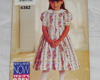 See & Sew Pattern #4382 Size B 4-5-6 Uncut and Unused