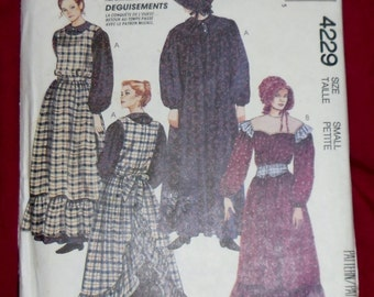 Vintage McCall's Costume Pattern #4229 Size Small 1989 Uncut & Unused