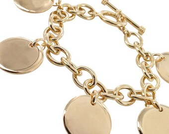 Customize chain bracelet gold plated