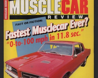 Vintage Magazine : Musclecar Review March 1989 Automobile Car Hot Rod VG+ Ford GTO