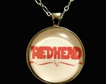 Redhead pendant necklace on silver chain