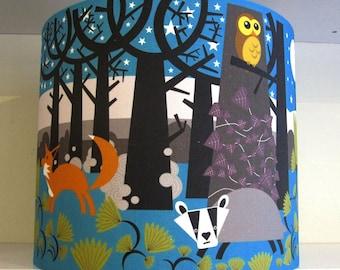 Lamp Shade in Woodland Fabric