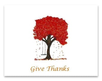 fall note cards, give thanks,autumn note cards, give thanks, thanksgiving, art note cards, blank note cards, everyday note cards