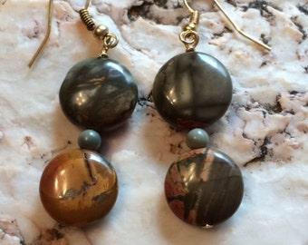 Beautiful Red Creek Jasper Earrings
