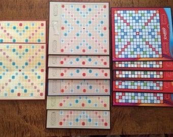 Lot of  Scrabble Boards, Scrabble Boards, Set of 13