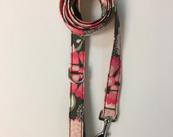 Multi-Color Pink Flower Print Dog Leash