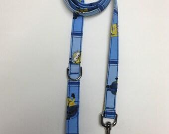 Blue Minion Print Dog Leash