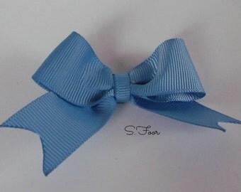 Light Blue Boutique style Elegant Bow